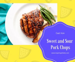 Cast Iron-Easy Pork Chops With Sweet and Sour Sauce