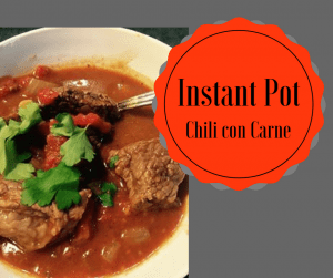 Instant Pot-Chili Con Carne