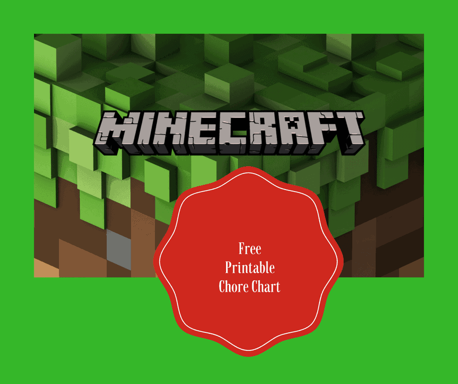 photo about Free Printable Minecraft titled Free of charge Printable Minecraft Chore Chart