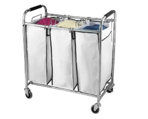 Rolling Cart Heavy Duty Triple Laundry Organizer/Sorter, Best Price! 58%  OFF TODAY!