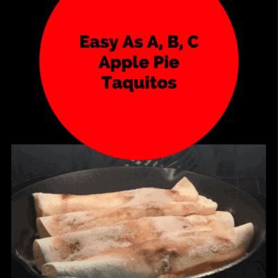 Cast Iron-Apple Pie Taquitos