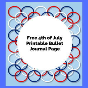 Free 4th of July Bullet Page (Design)
