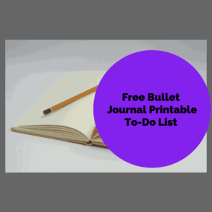 Free Bullet Journal Printable To-Do List