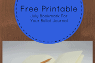 Free Printable-July Bookmark For Your Bullet Journal