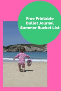 Free Summer Bucket List Printable For The Bullet Journal