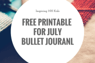 Freebie for July!! Printable Monthly Bullet Journal