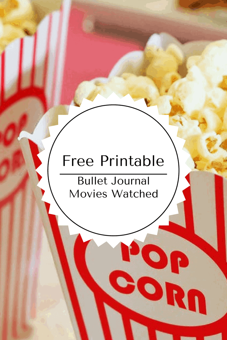 Free Printable Bullet Journal Movies Watched