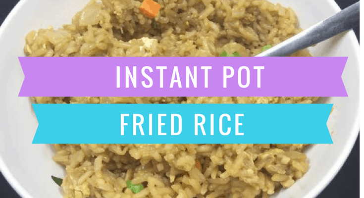 Instant Pot-Pressure Cooker-Vegetarian Chinese Fried Rice