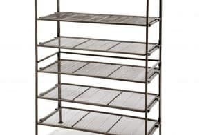 **HOT Deal** 3-Tier Iron Mesh Utility Shoe Rack (2-Pack), 51% Off Today!