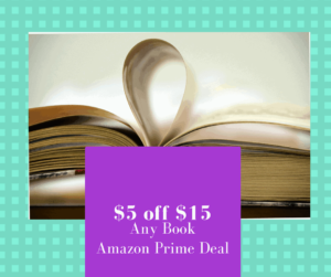 Amazon Deal $5.00 off Any $15.00 Book (Any Book)