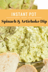 Instant Pot-Spinach and Artichoke Dip