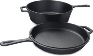 75% off Cast Iron Dutch Oven And Skillet for $24.99