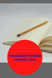 Free Printable Bullet Journal, July Calendar