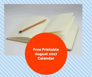 Free Printable Bullet Journal-August Calendar