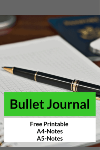 Bullet Journal FREEBIE of the Day-A4 and A5 Notes