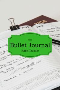 Bullet Journal-FREE Printable Habit Tracker