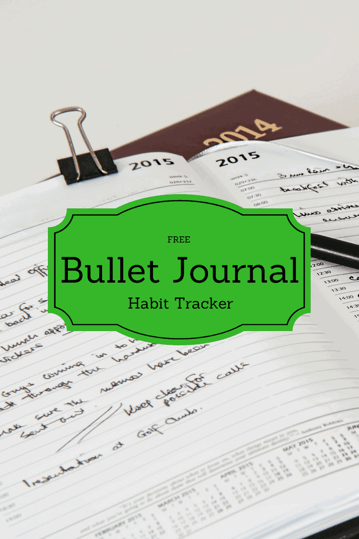 graphic about Bullet Journal Habit Tracker Printable named Bullet Magazine-Totally free Printable Pattern Tracker