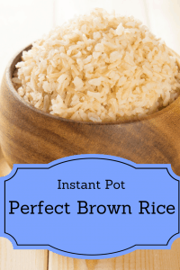 Instant Pot-Basic Brown Rice