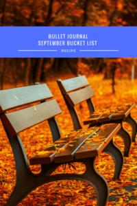 Free Printable, Bullet Journal, September Bucket List