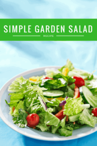 Simple Garden Salad with Homemade Vinaigrette