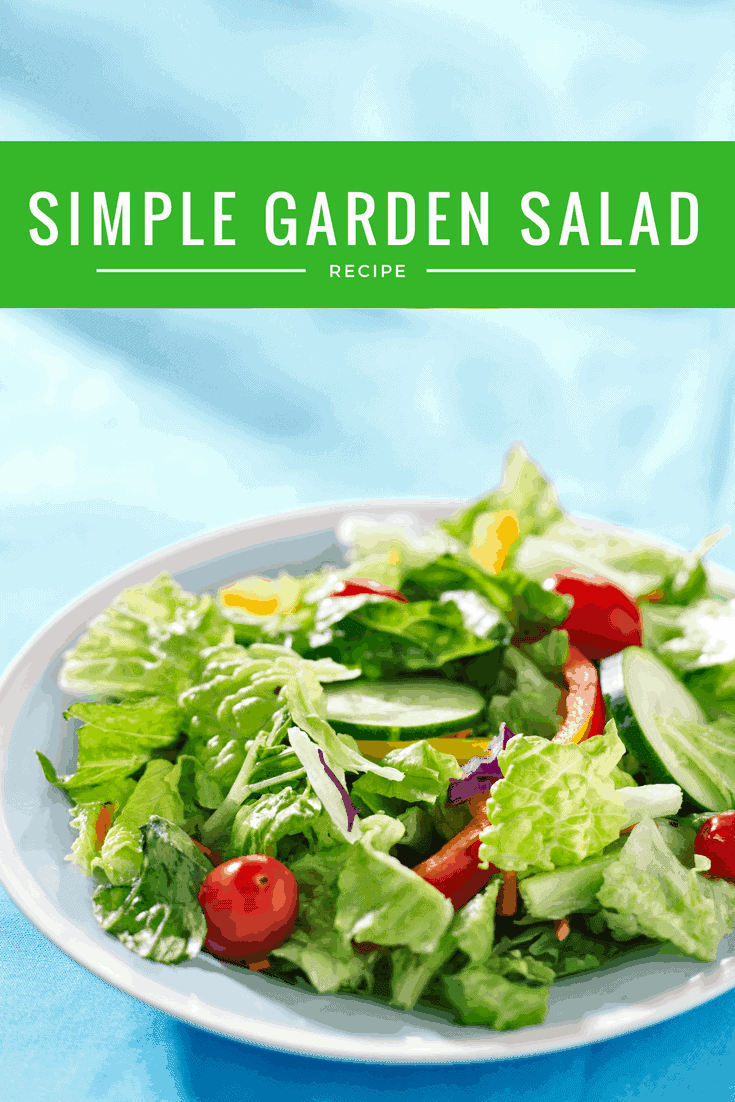 Simple Garden Salad and Simple Vinaigreette