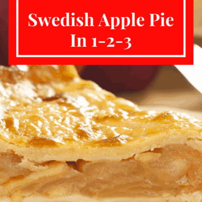 Swedish Apple Pie (The Easiest Pie You Will Ever Make)