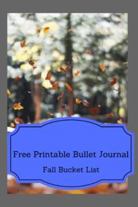 Bullet Journal-FREE Printable Fall Bucket List