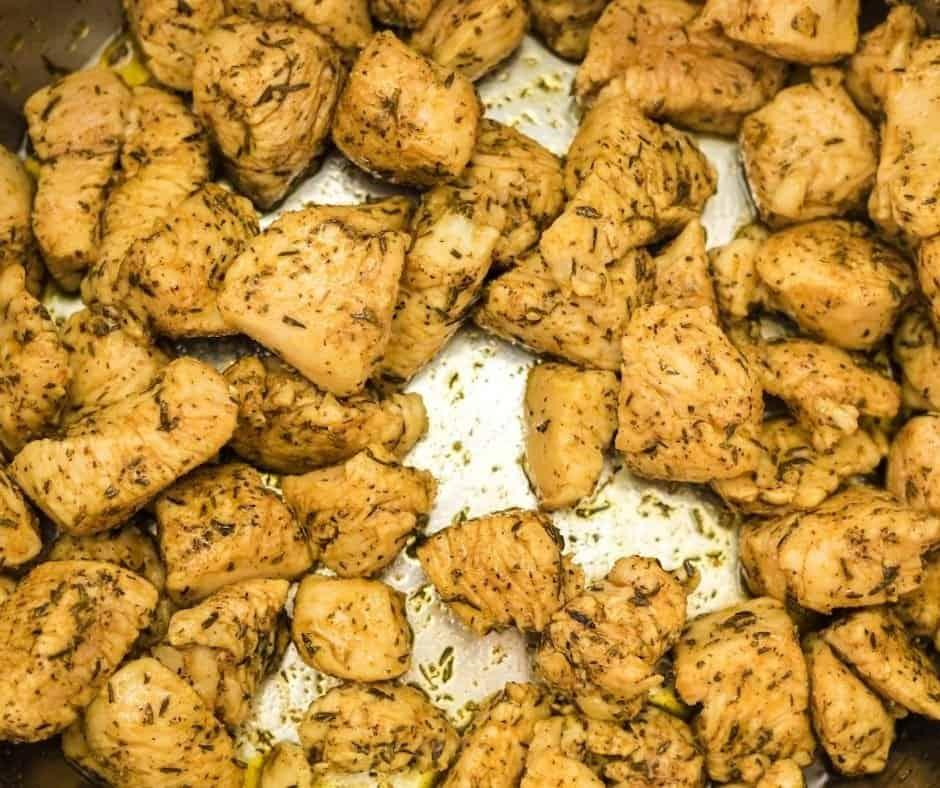 Saute Chicken in Instant Pot Bowl