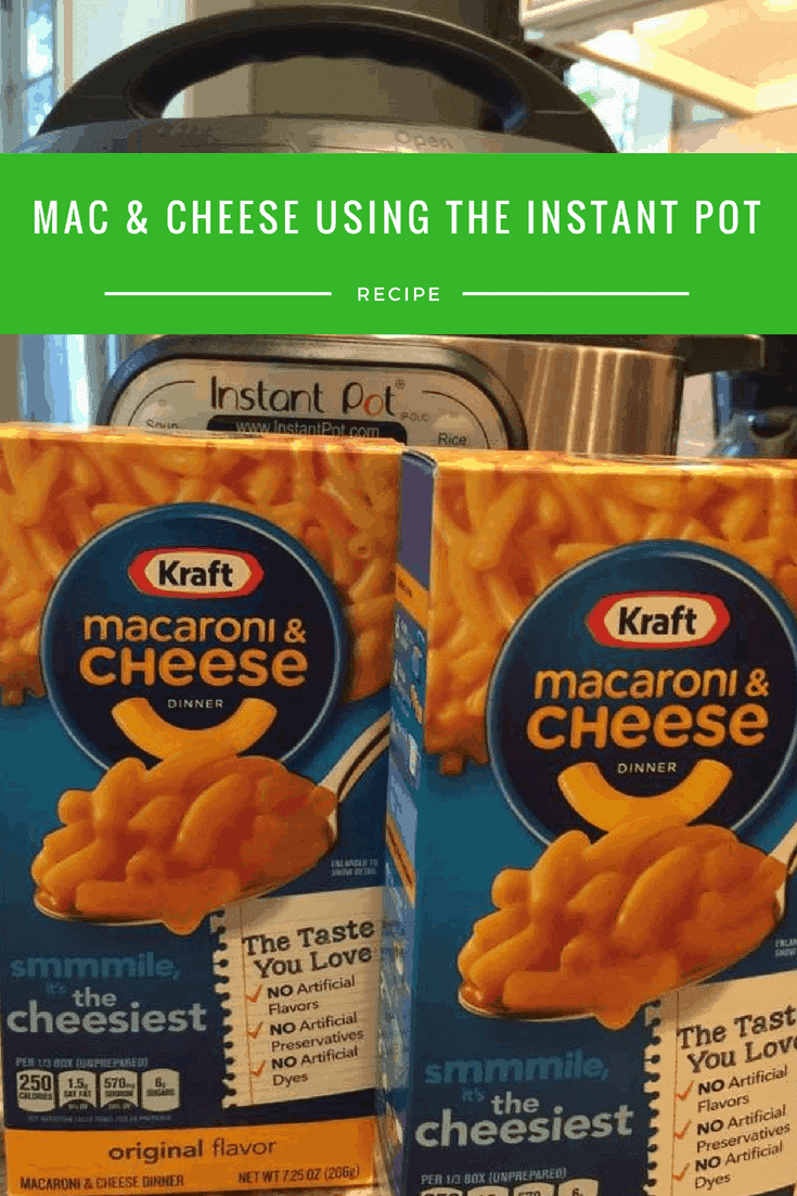 How to cook kraft mac and cheese in instant pot