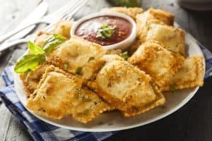 Air Fryer-Fried Raviolis
