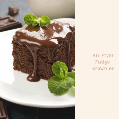 Air Fryer Chocolate Fudge Brownies