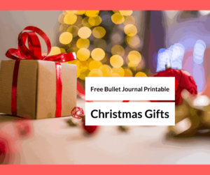 Free Bullet Journal-Free Printable Christmas List