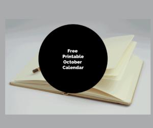 Bullet Journal-Free Printable October Calendar