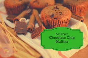 Air Fryer-Chocolate Chip Muffins