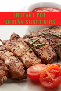 Instant Pot-Korean Beef Short Ribs
