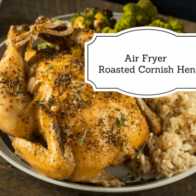 Air Fryer-Perfectly Roasted Cornish Hen (NO OIL)