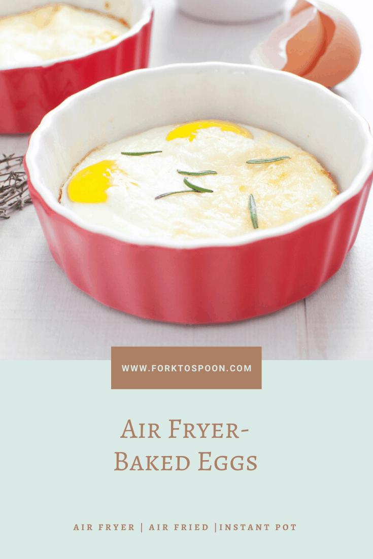 Air Fryer, Baked Eggs