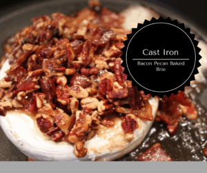 Cast Iron–Bacon Pecan Baked Brie