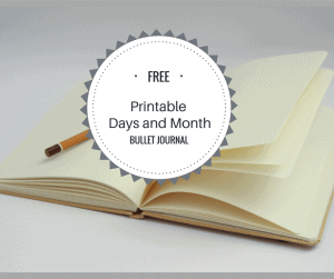 Free Bullet Journal Printable (Days and Months)