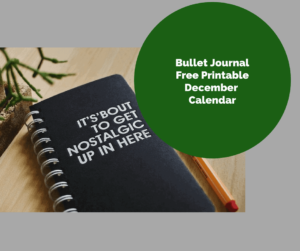 Free Printable Bullet Journal, December Calendar