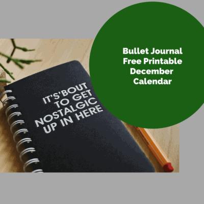 Free Printable Bullet Journal, December Calendar