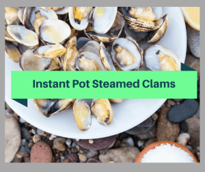Instant Pot-Steamed Clams In White Wine Sauce