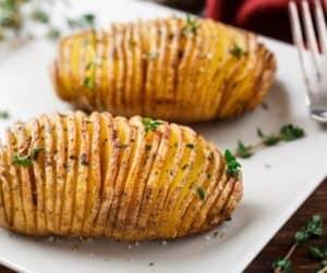 Air Fryer Hasselback Potatoes