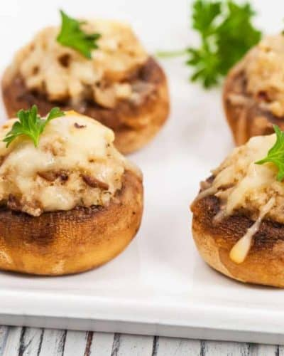 Air Fryer Stuffed Mushrooms