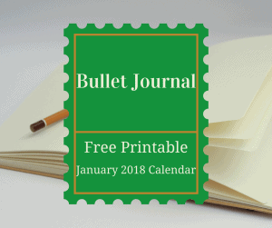 Bullet Journal–Free January 2018 Printable Calendar
