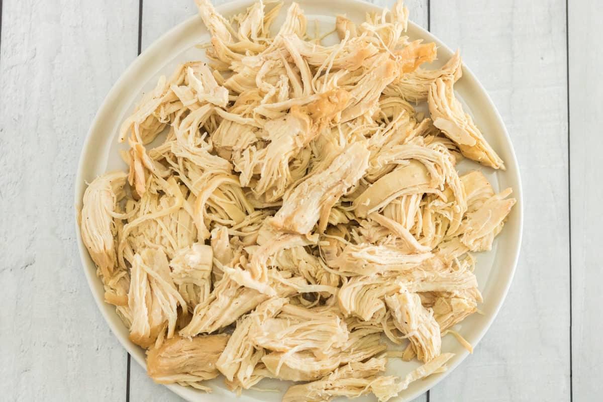Instant Pot Shredded Chicken In Bowl.