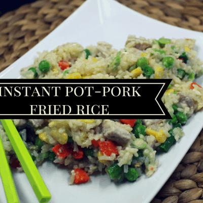 Pressure Cooker- (Instant Pot) Pork Fried Rice