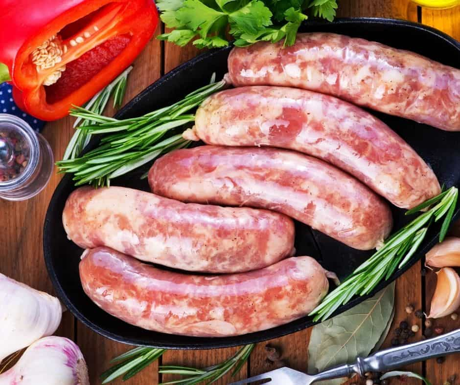 Ingredients Needed For Air Fryer Sausage Peppers and Onions