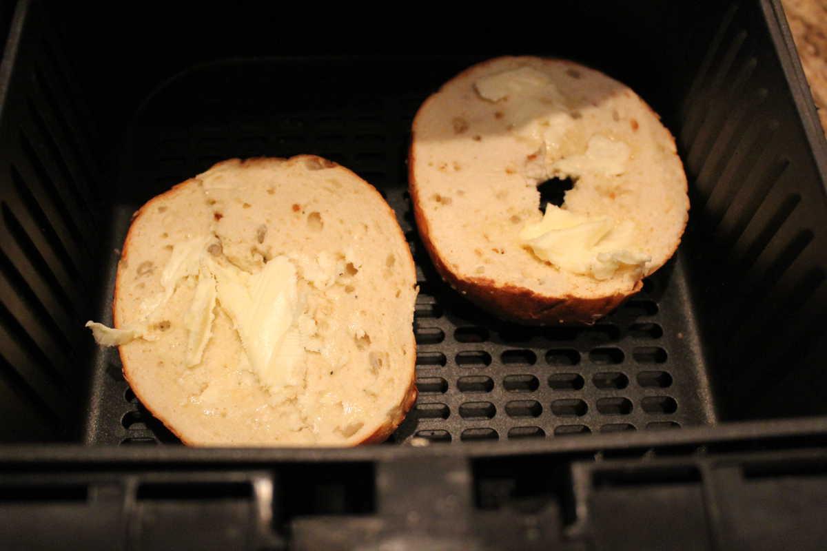 Bagel Toasted in Air Fryer