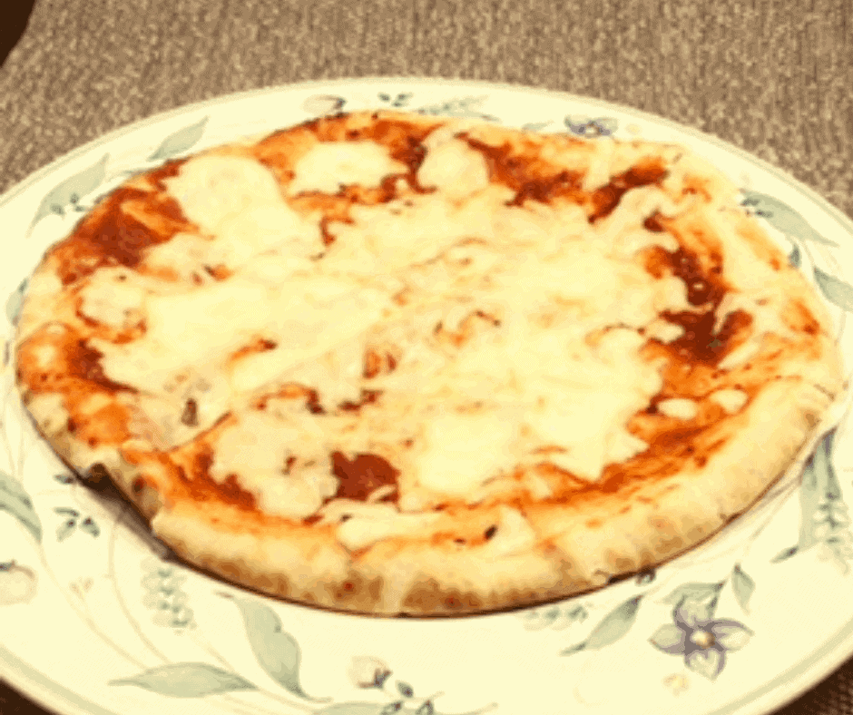 Air Fryer, Easy Pita Cheese Pizza--6 Minutes and Done!